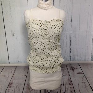 Ivory & Gray Floral Camisole Top